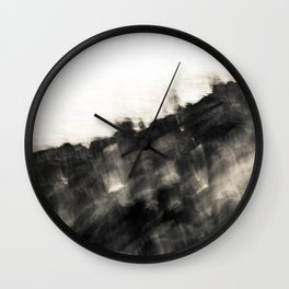 Ragged Line of Sea and Coast Wall Clock