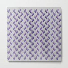 Kaleidoscope of Butterflies in Purple Metal Print