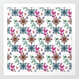 Aquarium pattern Art Print