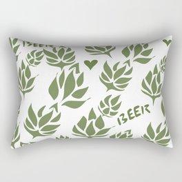 Hops leggings for the beer drinking yogi Rectangular Pillow
