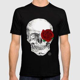 Rose Skull Black T-shirt