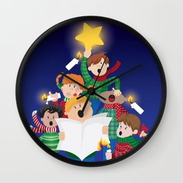 Children's Christmas Wall Clock