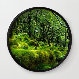 MOSSY ROCK ENGLISH FOREST Wall Clock