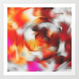red brown and pink spiral painting Art Print