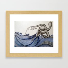 Soft Water Rinse Framed Art Print