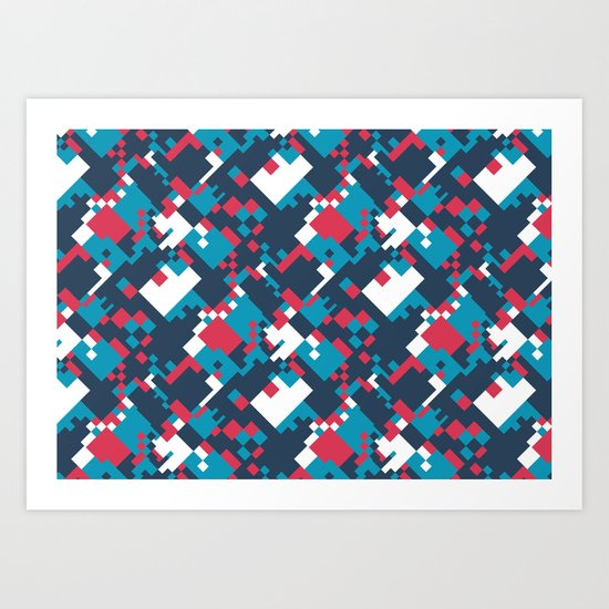 pixelated 2.0 Art Print