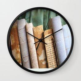 Vintage Suitcase - Textures Wall Clock