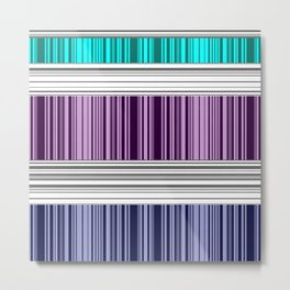 The colorful stripes . Metal Print