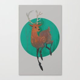 Autumn Stag Canvas Print