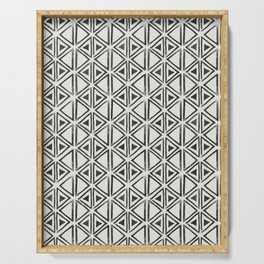 Block Print Diamond Serving Tray