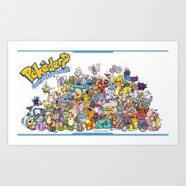 Pokémon - Gotta derp 'em all! - Group photo Art Print