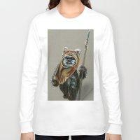 ewok Long Sleeve T-shirts featuring Ewok by Sam Luotonen