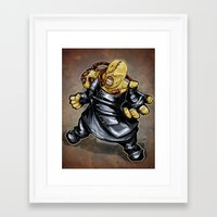 resident evil Framed Art Prints featuring Nemesis: Resident Evil by Patrick Scullin