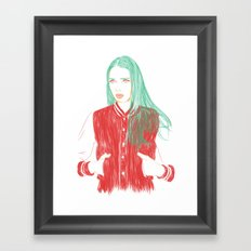 That Girl Framed Art Print