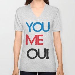 You Me Oui Unisex V-Neck