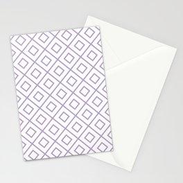 Lavender Diamond Pattern 2 Stationery Cards