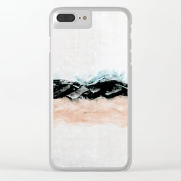 abstract minimalist landscape 10 Clear iPhone Case