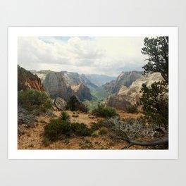 Above Zion Canyon Art Print