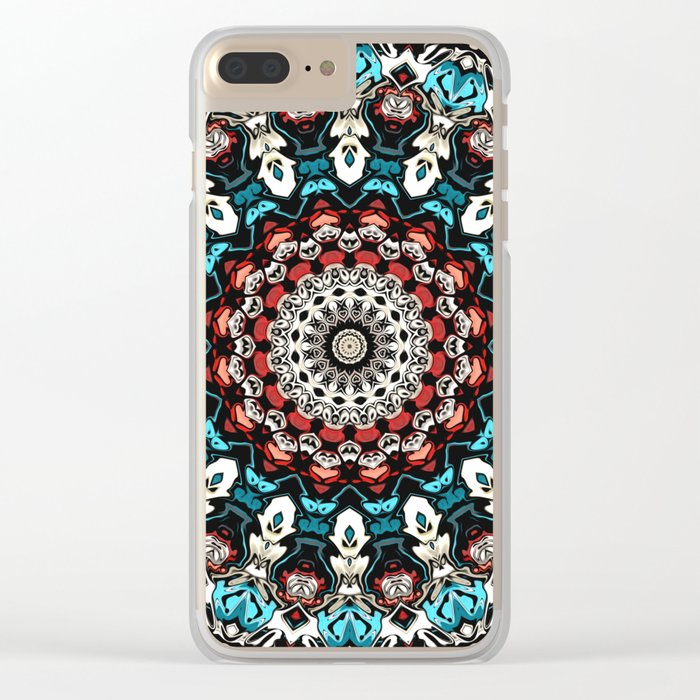 Abstract Shapes Mandala Clear iPhone Case