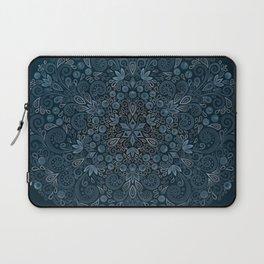 Blueberry Field Watercolor Pattern Laptop Sleeve