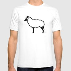 The Wolf in Sheep's Clothing White Mens Fitted Tee SMALL