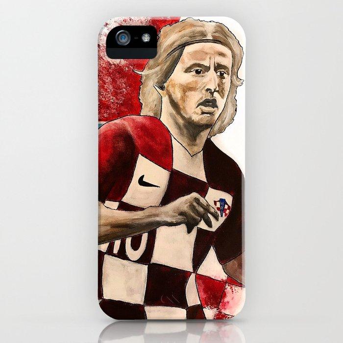 Luka Modric,soccer,croatia,golden ball,2018,world cup,hrvatska,super star,poster,print,wall art iPhone Case