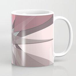 Pink Star Petals Rose Mauve Pink Grey Beebus Marble Coffee Mug