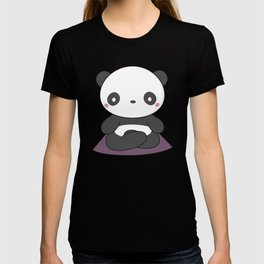 Kawaii Cute Yoga Panda T-shirt