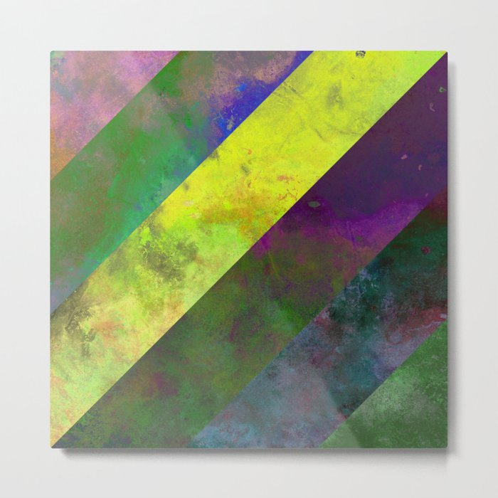 45 Degrees - Abstract, textured, diagonal stripes Metal Print