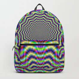 Psychedelic Web Star Backpack