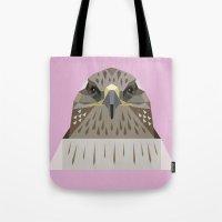 hawk Tote Bags featuring Hawk by Alysha Dawn