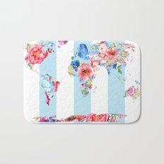 Floral World Stripe Bath Mat