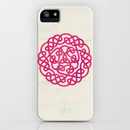 Love poster iPhone Case