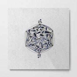 HexaCircle 8 Metal Print