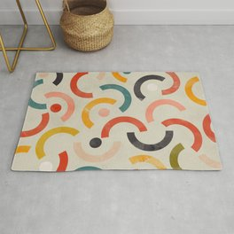 mid century geometric abstract Rug
