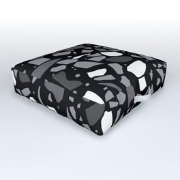 Terrazzo Spot Black 2 Outdoor Floor Cushion