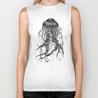 jellyfish Biker Tanks featuring Jellyfish by Aubree Eisenwinter