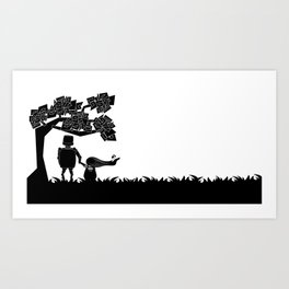 The child and the robot Art Print
