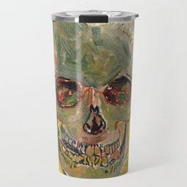 Skull by Vincent van Gogh, 1887 Travel Mug