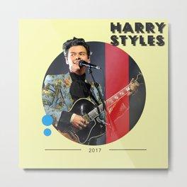Harry Styles Vintage Metal Print