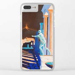 Pompei at Night - Vintage German Travel Ad Clear iPhone Case