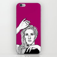 ellie goulding iPhone & iPod Skins featuring Ellie Goulding by Sharin Yofitasari