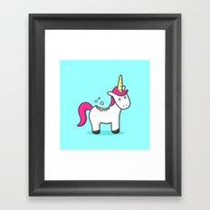 Unicorn Cookie Framed Art Print