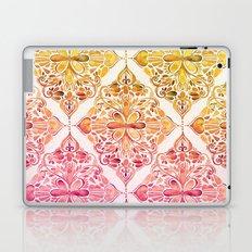 Sunset Art Nouveau Watercolor Doodle Laptop & iPad Skin