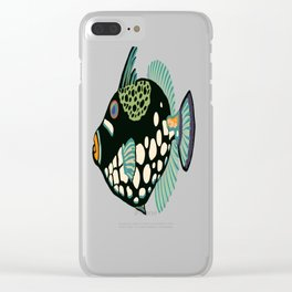 Oriental triggerfish Clear iPhone Case