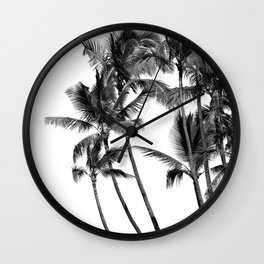 Black and White Palms Wall Clock