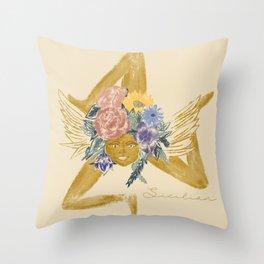 Sicilian Trinacria  Throw Pillow