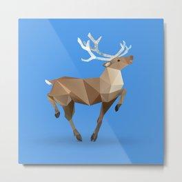 Reindeer. (Prancer) Metal Print