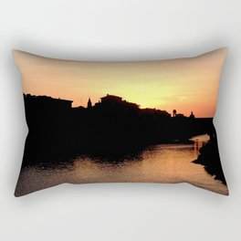 Sunset over the Ponte Vecchio Rectangular Pillow