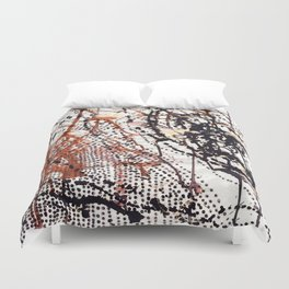 Printed splatter  Duvet Cover